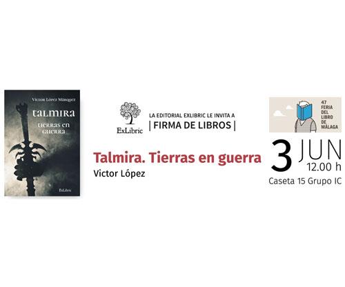 Firma de libros Talmira en feria del libro de Málaga