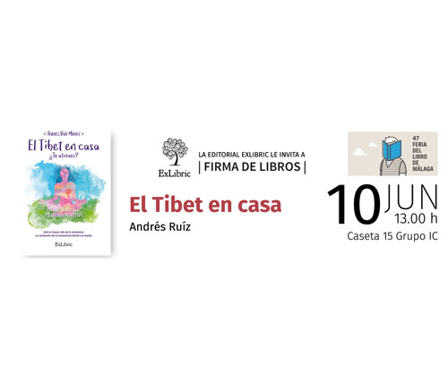 Presentación libro el tibet en casa en la feria de Málaga