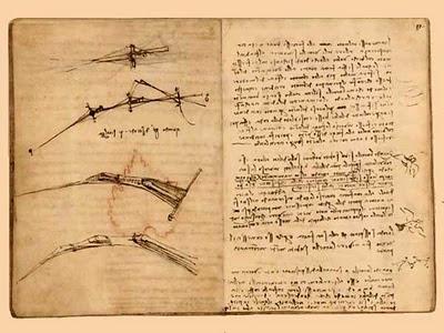 Leonardo da vinci escribe al revés
