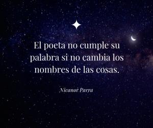 Citas de escritores Nicanor Parra