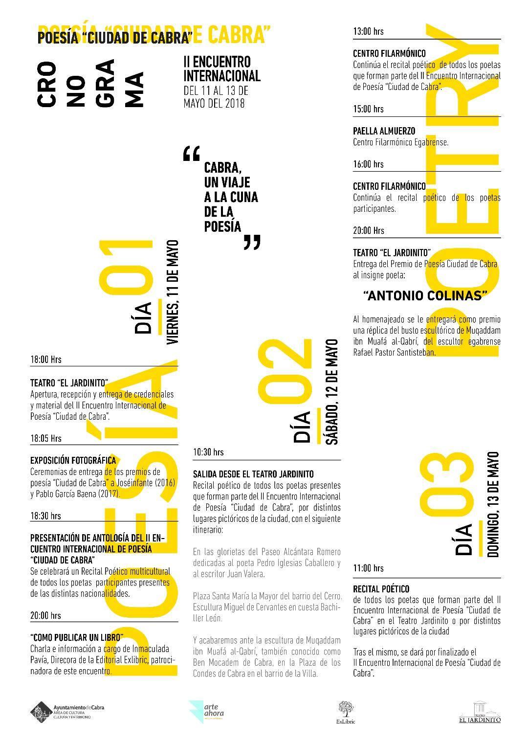 Programa poesía Ciudad de Cabra