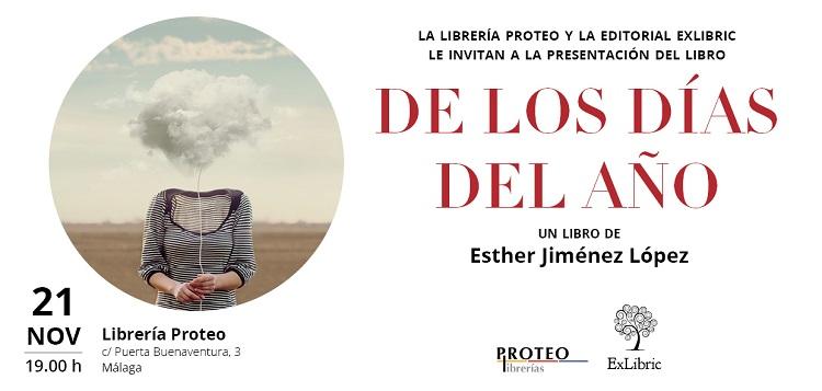 Esther Jiménez presenta su poemario, 'De los días del año' en Málaga