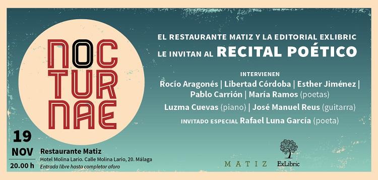 Editorial ExLibric organiza el primer recital de poesía con música en directo.
