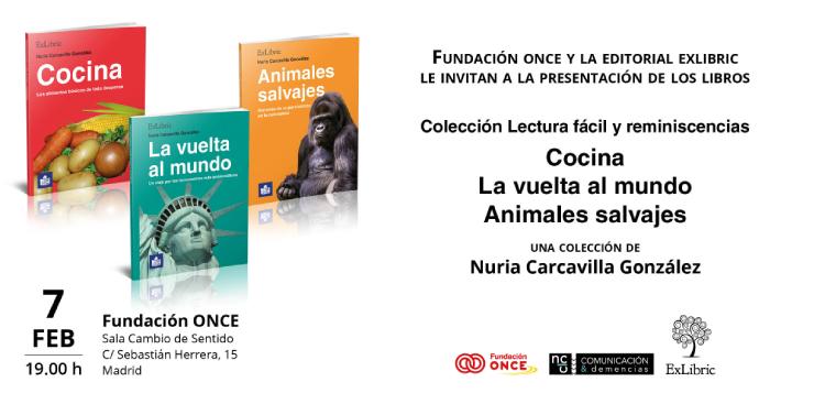 Presentación de la colección 'Lectura fácil y reminiscencias', de Nuria Carcavilla.