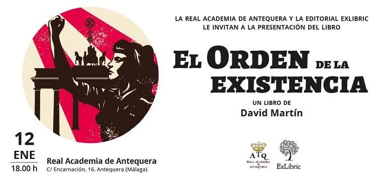 David Martín Portillo presenta en Antequera 'El orden de la existencia'