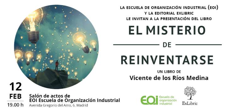 La Escuela de Organización Industrial acoge la presentación de 'El misterio de reinventarse'