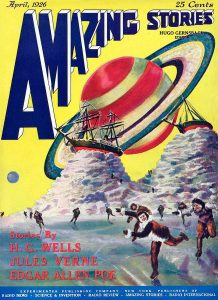Portada de Amazing Stories donde aparecía el término ciencia ficción
