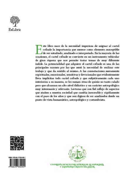 Contraportada Recopilación y análisis de la cartelería cofrade de Aguilar de la Frontera