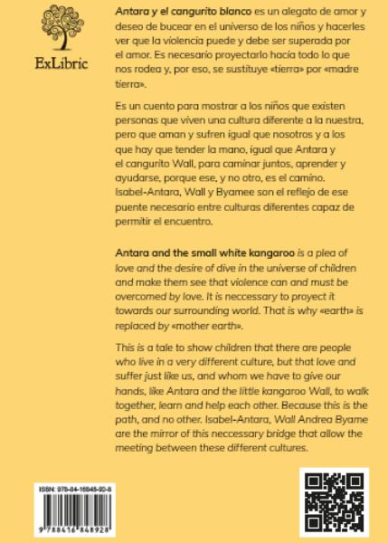 Contraportada de Antara y el cangurito blanco