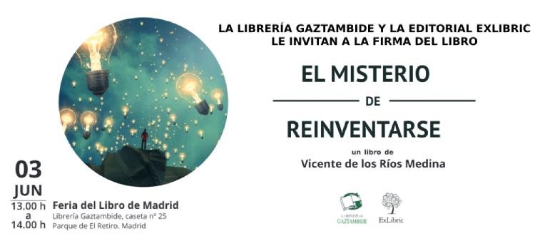 Librería Gaztambide acoge la firma de 'El misterio de reinventarse' en Madrid