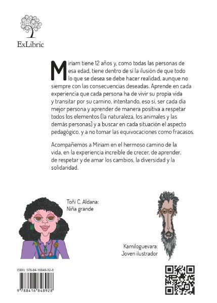 Contraportada del libro 'Miriam Caraluna'