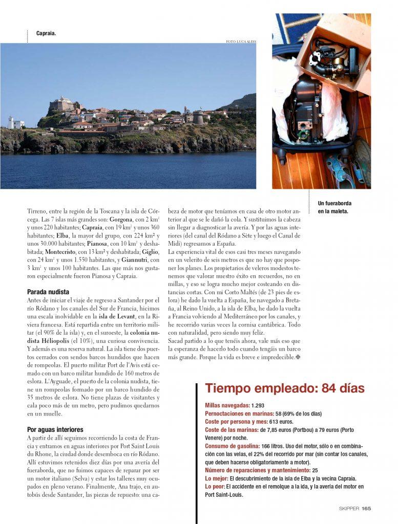 Quinta página de la entrevista de Álvaro González de Aledo en Skipper