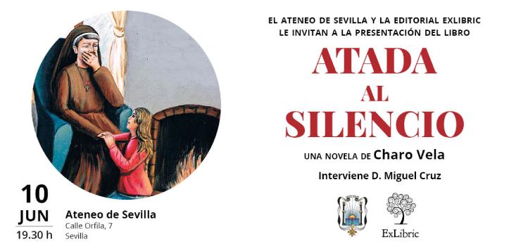 Charo Vela acude al Ateneo de Sevilla para presentar 'Atada al silencio'