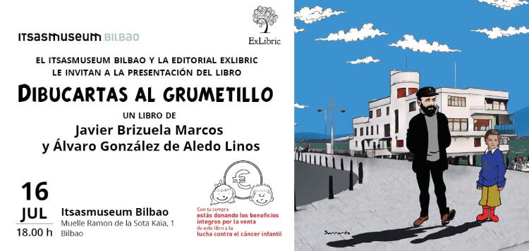 Editorial ExLibric te invita a la presentación de 'Dibucartas al grumetillo' en Bilbao