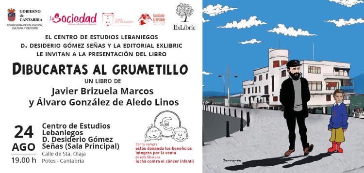 El Centro de Estudios Lebaniegos acoge la nueva presentación d 'Dibucartas al grumetillo'