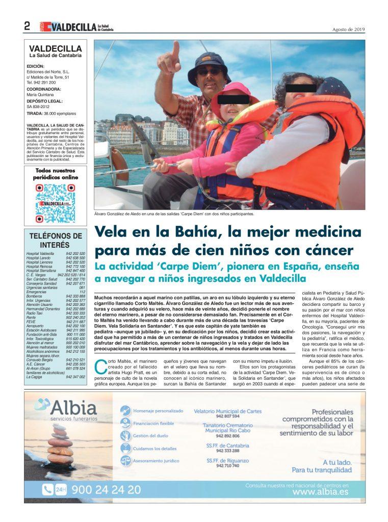 La revista Valdecilla entrevista a Álvaro González de Aledo Linos sobre sus terapias.