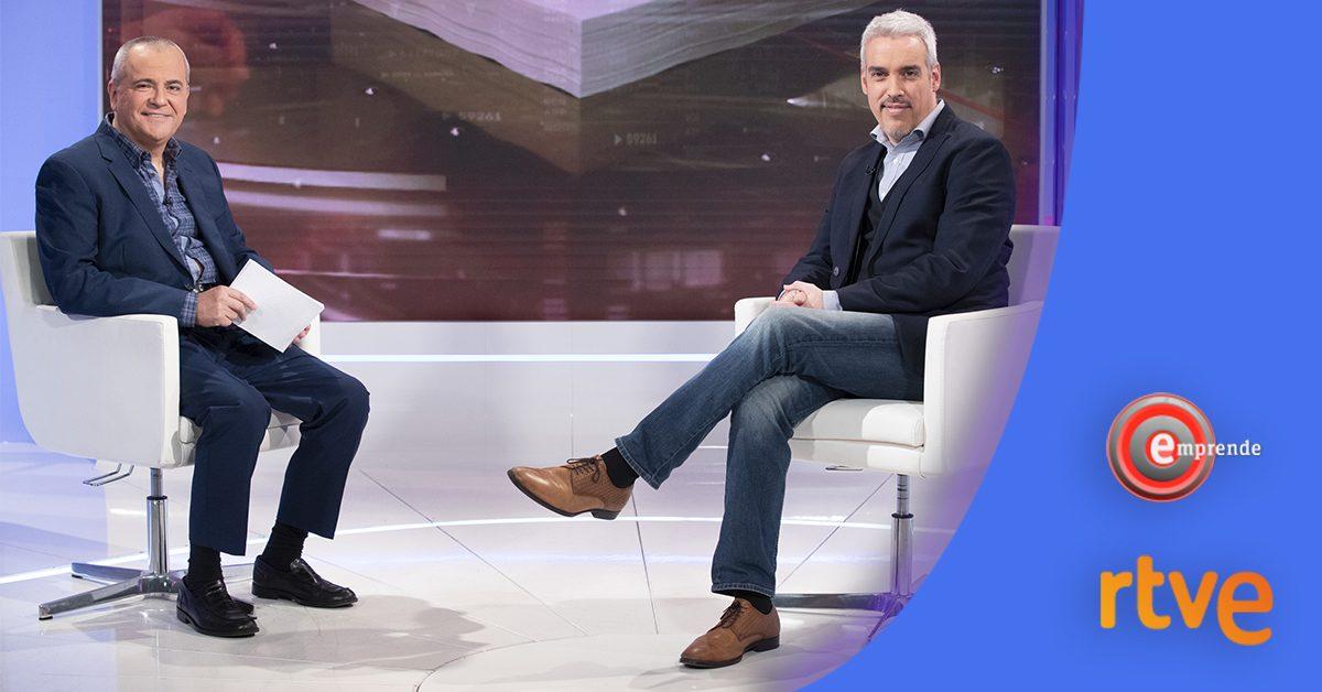 El plató de 'Emprende' (RTVE) abre sus puertas a editorial ExLibric para conocer su modelo de negocio