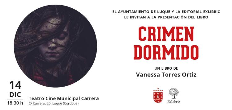 Editorial ExLibric te invita a la presentación del libro 'Crimen dormido' en Luque