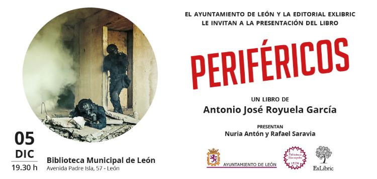Editorial ExLibric te invita a la presentación de 'Periféricos' en León