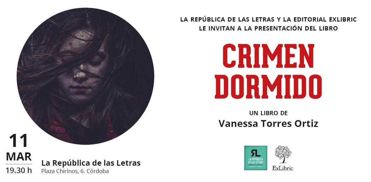 Córdoba acoge la nueva presentación de 'Crimen dormido'