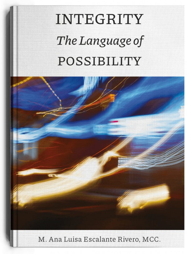 Integrity the languaje of possibility, a book by Ana Luisa Escalante