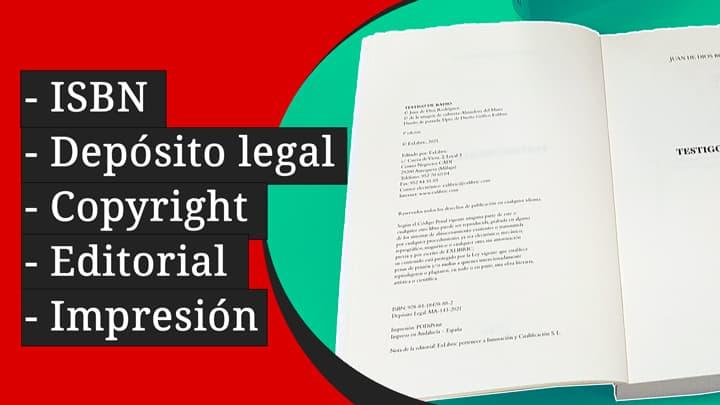 Página de datos legales de un libro
